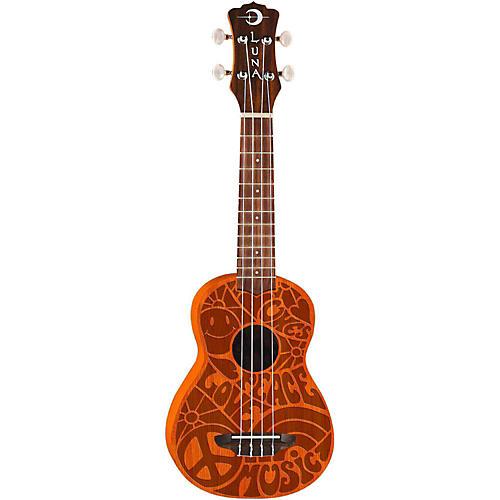 Luna Guitars Peace Love Soprano Ukulele thumbnail