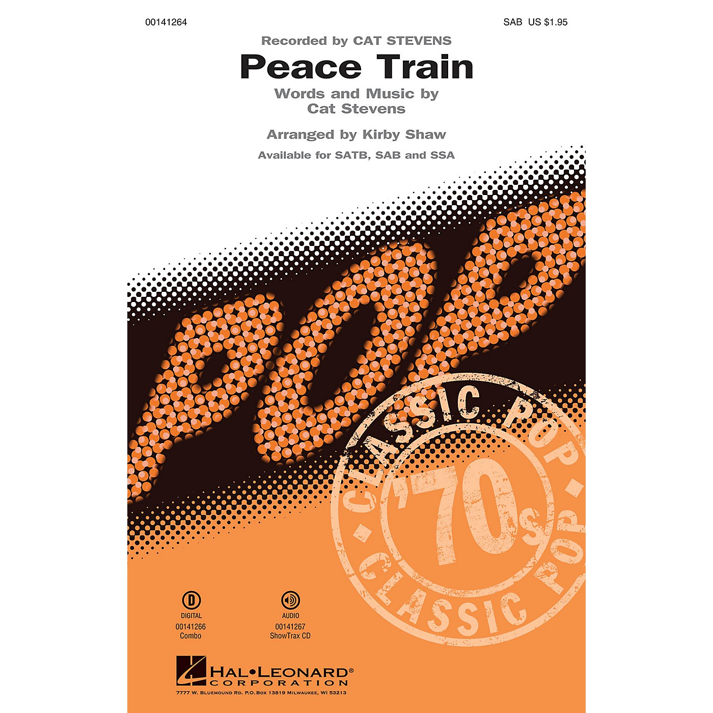 Hal Leonard Peace Train SAB by Cat Stevens arranged by Kirby Shaw thumbnail