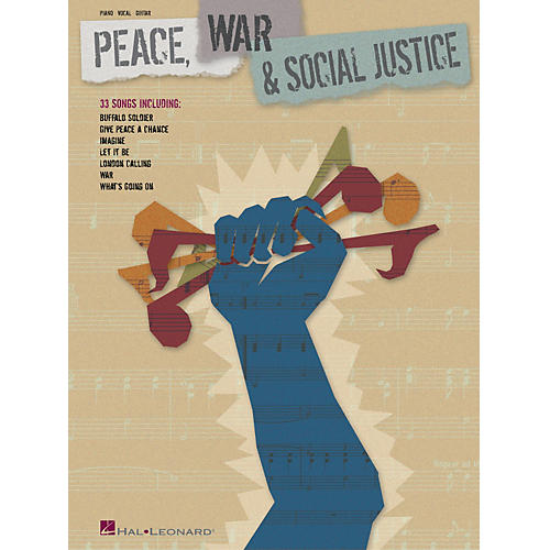 Hal Leonard Peace, War and Social Justice Piano/Vocal/Guitar Songbook thumbnail