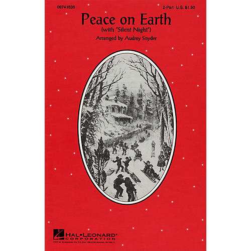 Hal Leonard Peace on Earth (Silent Night) 2-Part arranged by Audrey Snyder thumbnail