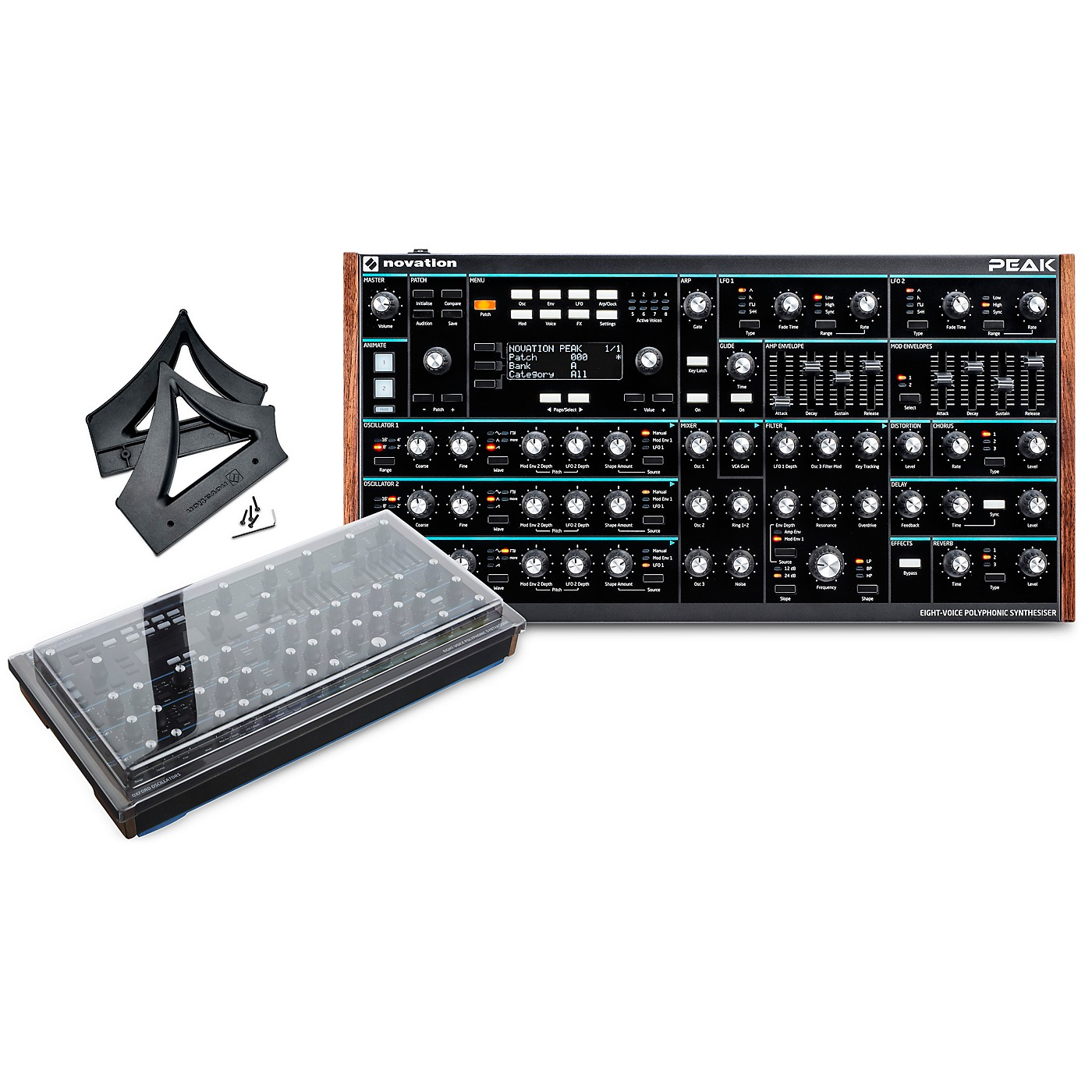 Novation Peak Desktop Synthesizer with Decksaver Cover and Stand thumbnail