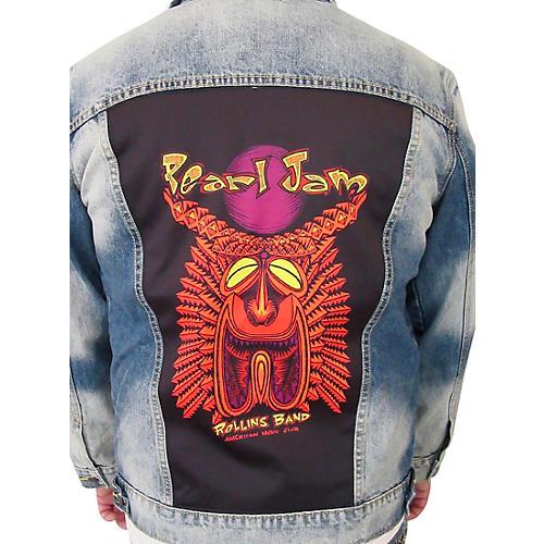 Dragonfly Clothing Pearl Jam - Tiki Torch - Womens Denim Jacket thumbnail