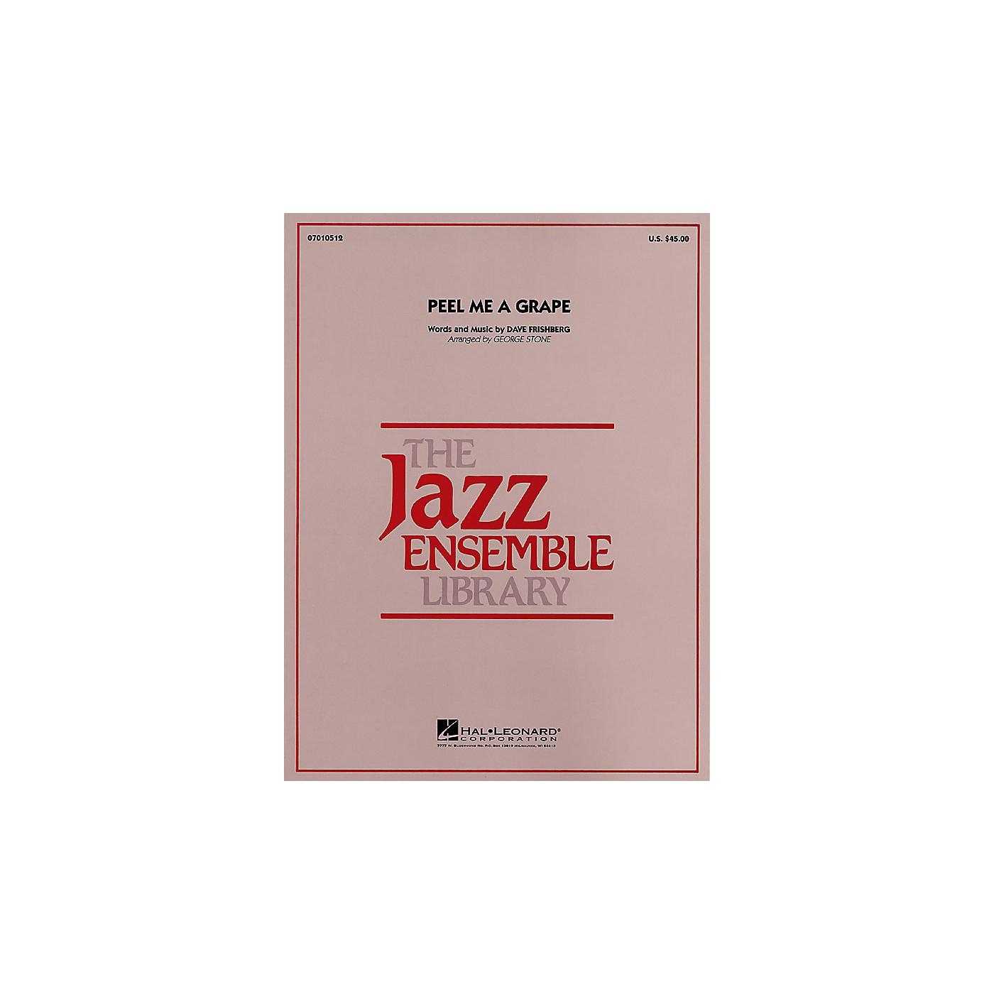 Hal Leonard Peel Me a Grape Jazz Band Level 4 Arranged by George Stone thumbnail