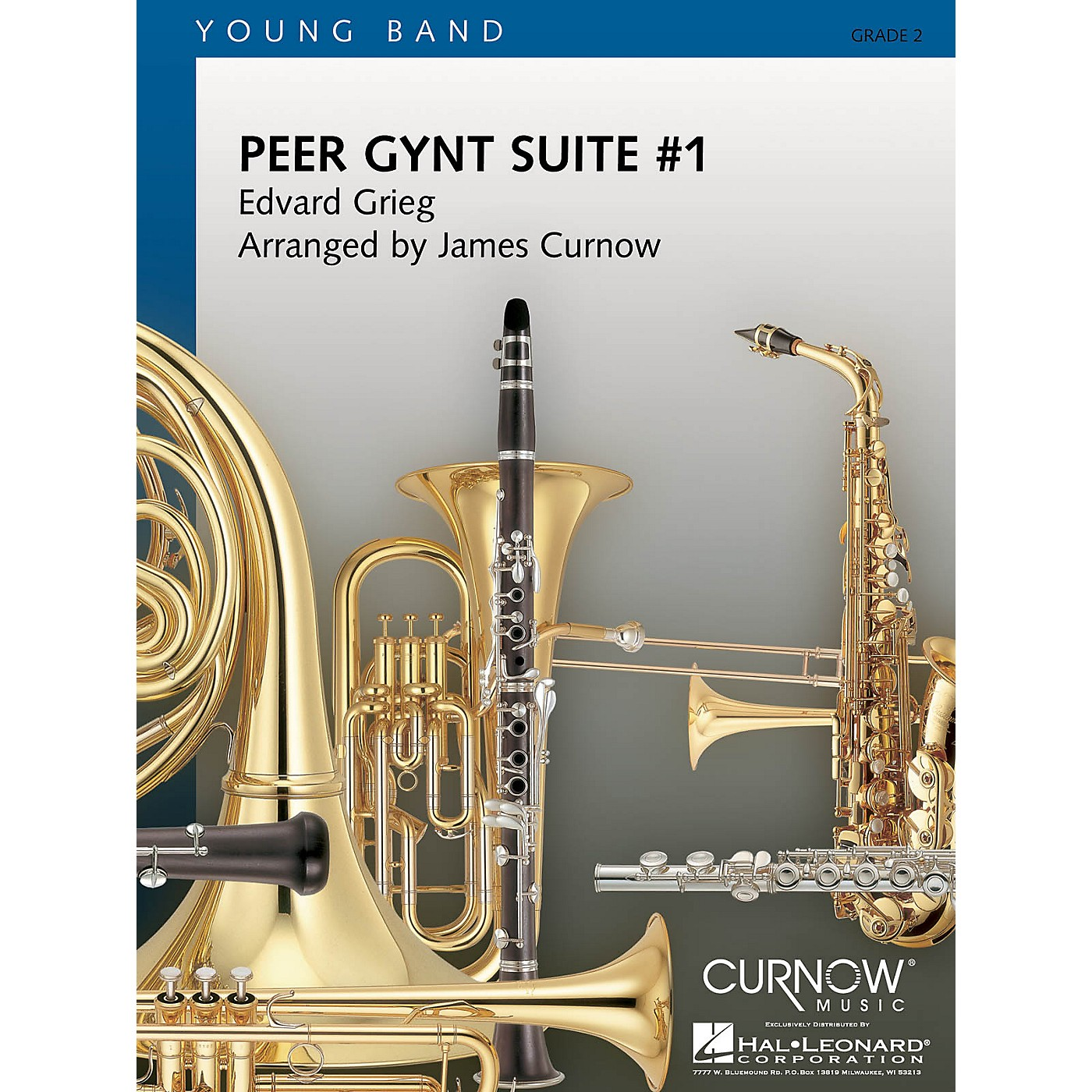 Curnow Music Peer Gynt Suite No. 1 (Grade 2 - Score and Parts) Concert Band Level 2 Arranged by James Curnow thumbnail