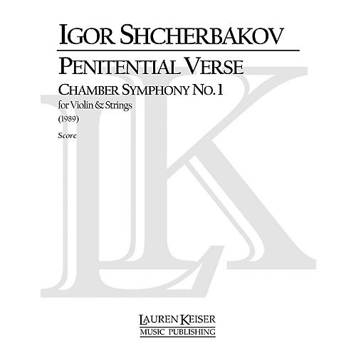 Lauren Keiser Music Publishing Penitential Verse: Chamber Symphony No. 1 for Violin and Strings LKM Music Series by Igor Shcherbakov thumbnail