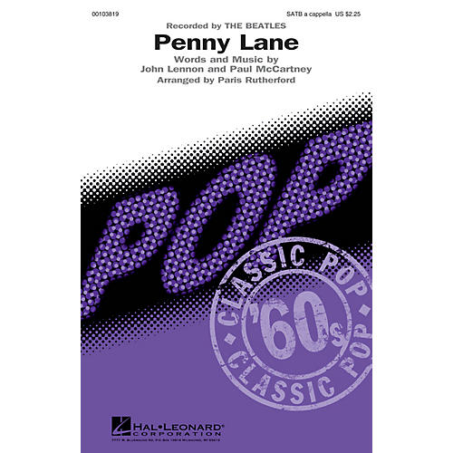 Hal Leonard Penny Lane SATB a cappella by The Beatles arranged by Paris Rutherford thumbnail
