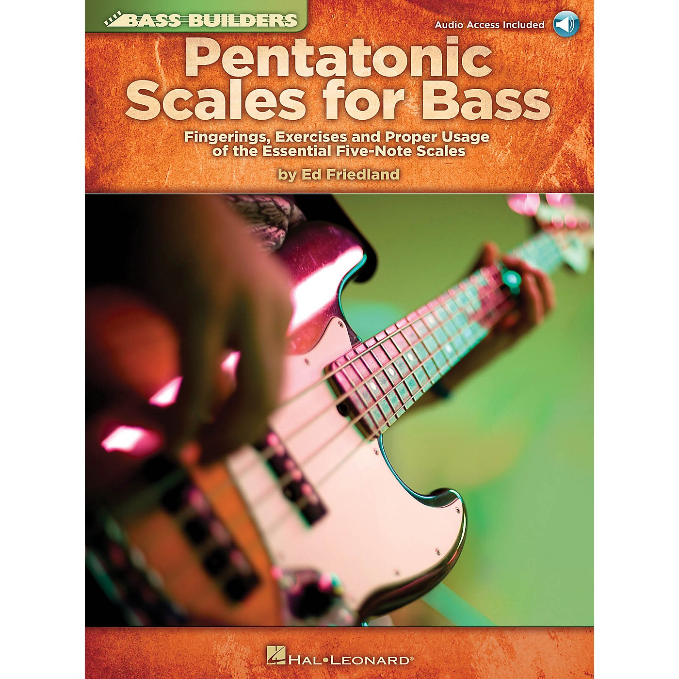 Hal Leonard Pentatonic Scales for Bass Bass Builders Series Softcover Audio Online Written by Ed Friedland thumbnail