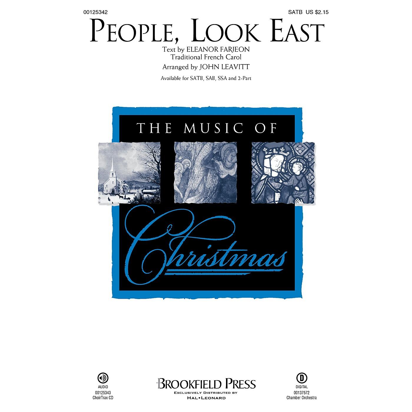 Brookfield People, Look East SATB arranged by John Leavitt thumbnail