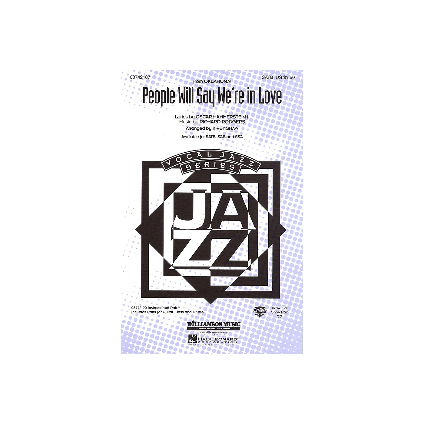 Hal Leonard People Will Say We're in Love (from Oklahoma!) SATB arranged by Kirby Shaw thumbnail