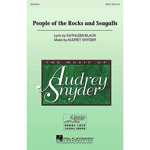 Hal Leonard People of the Rocks and Seagulls SATB composed by Audrey Snyder thumbnail