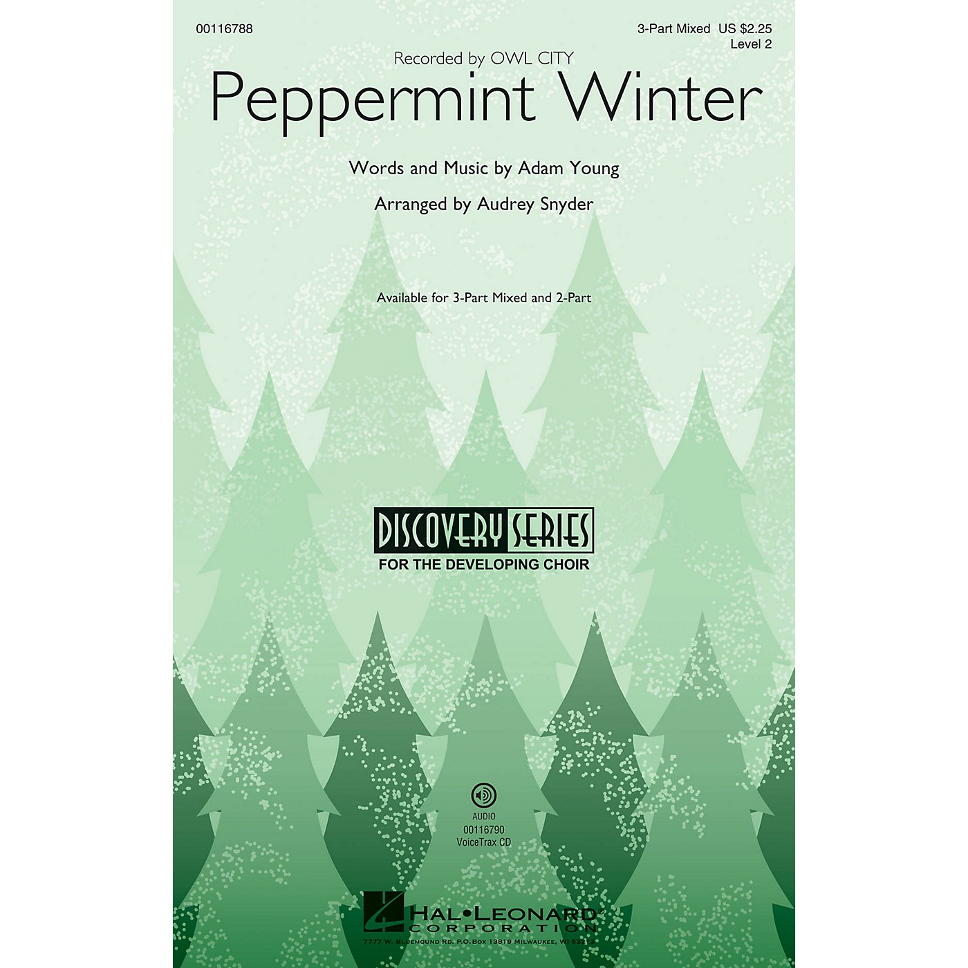 Hal Leonard Peppermint Winter (Discovery Level 2) 2-Part by Owl City Arranged by Audrey Snyder thumbnail