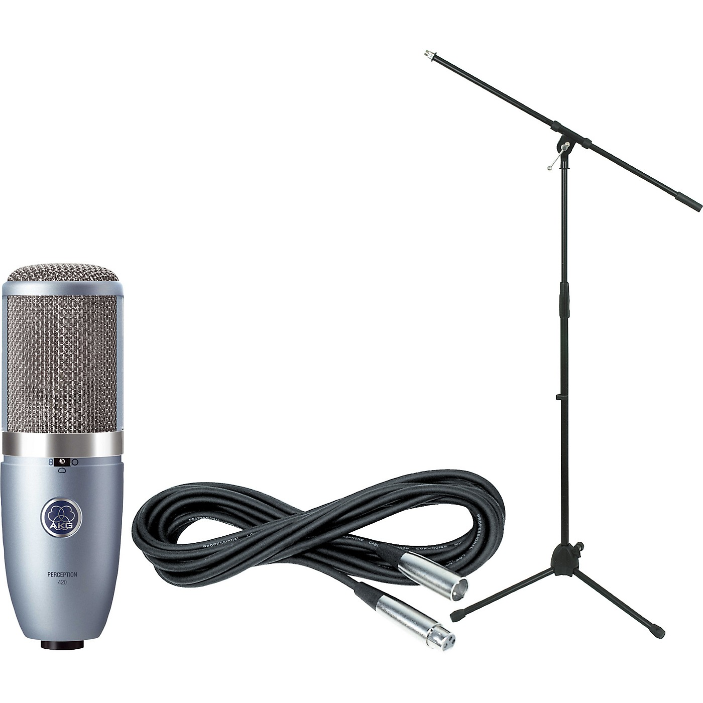 AKG Perception 420 Condenser Mic with Cable and Stand thumbnail
