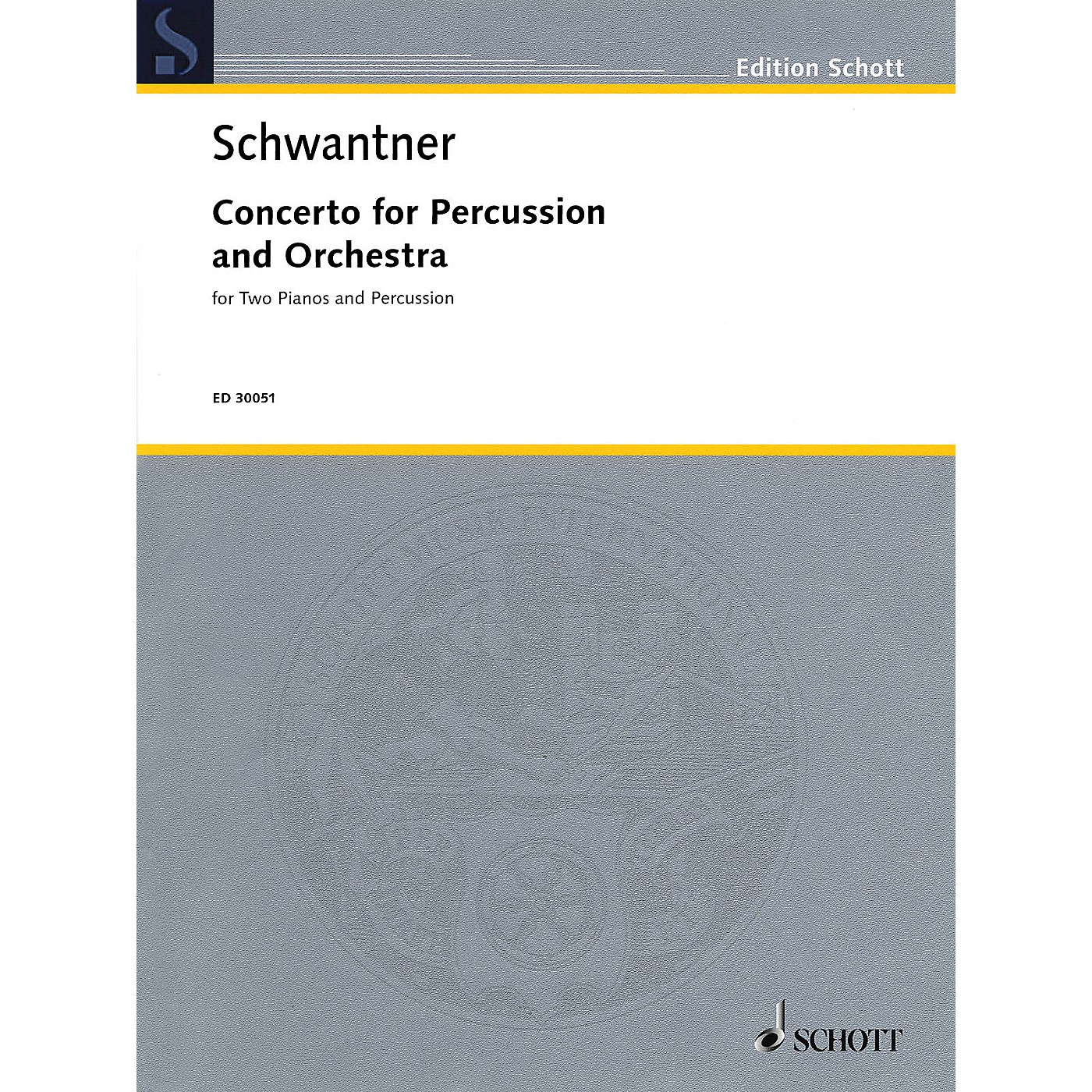 Schott Percussion Concerto No. 1 (Percussion and 2 Pianos, 4 Hands Reduction) Percussion Series thumbnail