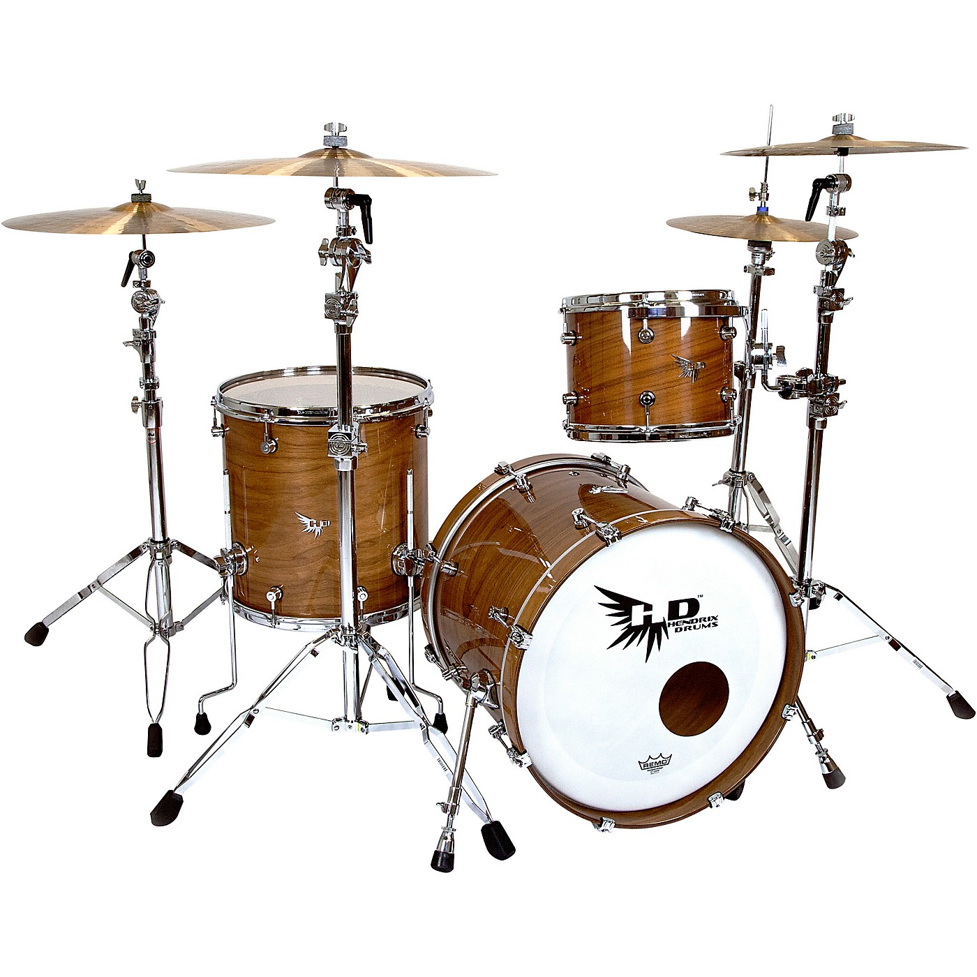 Hendrix Drums Perfect Ply Series Walnut 3-Piece Shell Pack, Fusion Sizes thumbnail