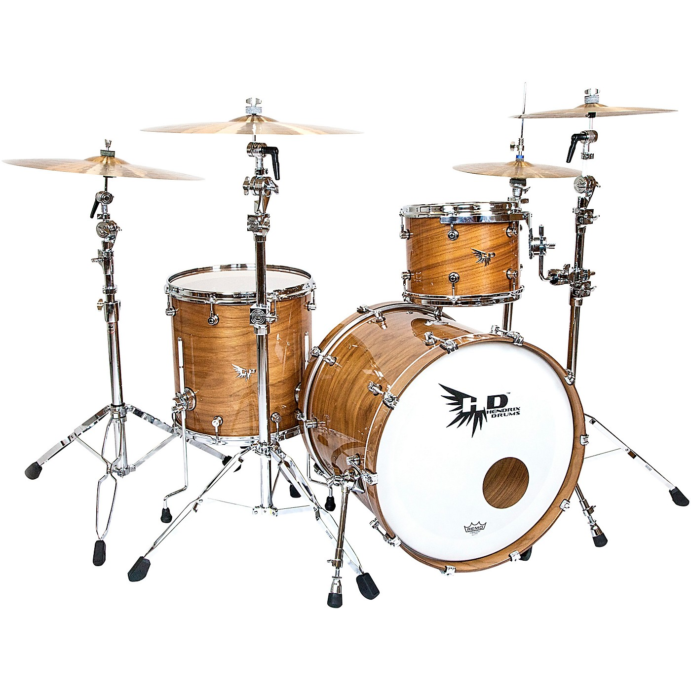 Hendrix Drums Perfect Ply Series Walnut 3-Piece Shell Pack thumbnail