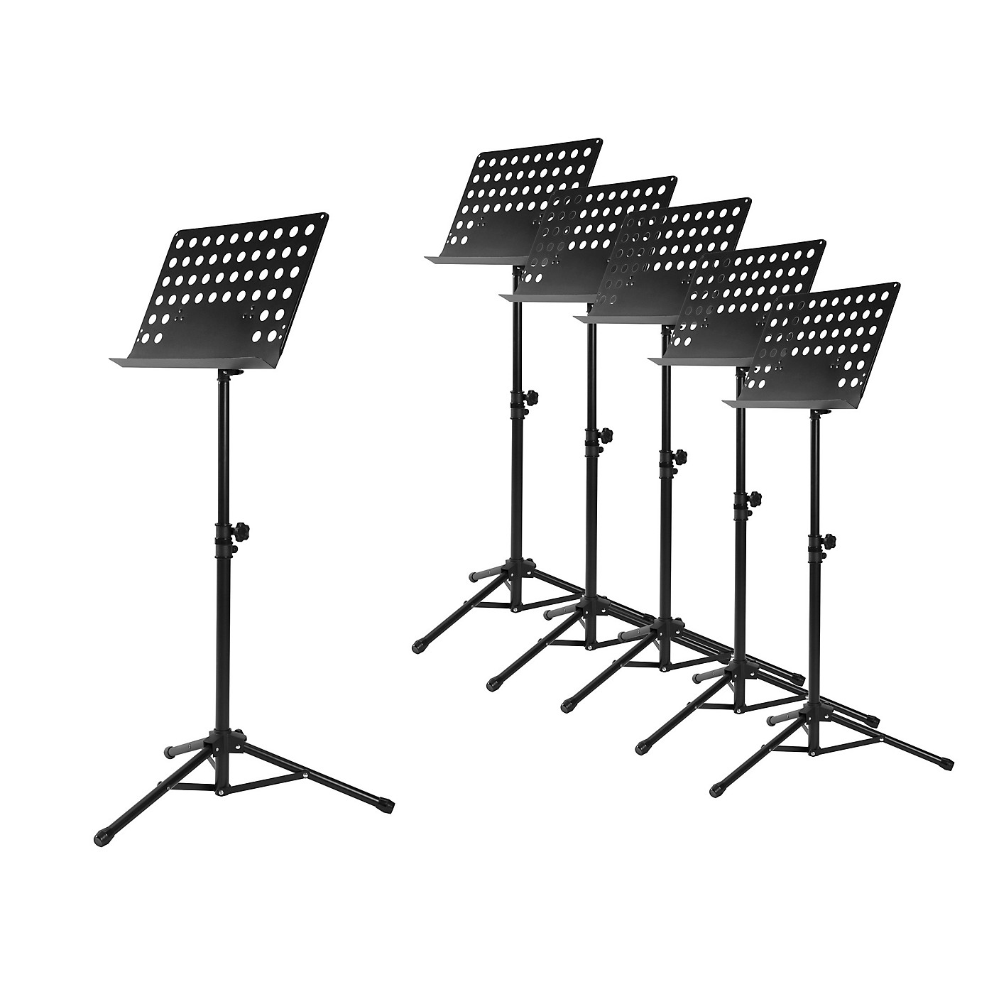 Musician's Gear Perforated Tripod Orchestral Music Stand, Black - 6 Pack thumbnail