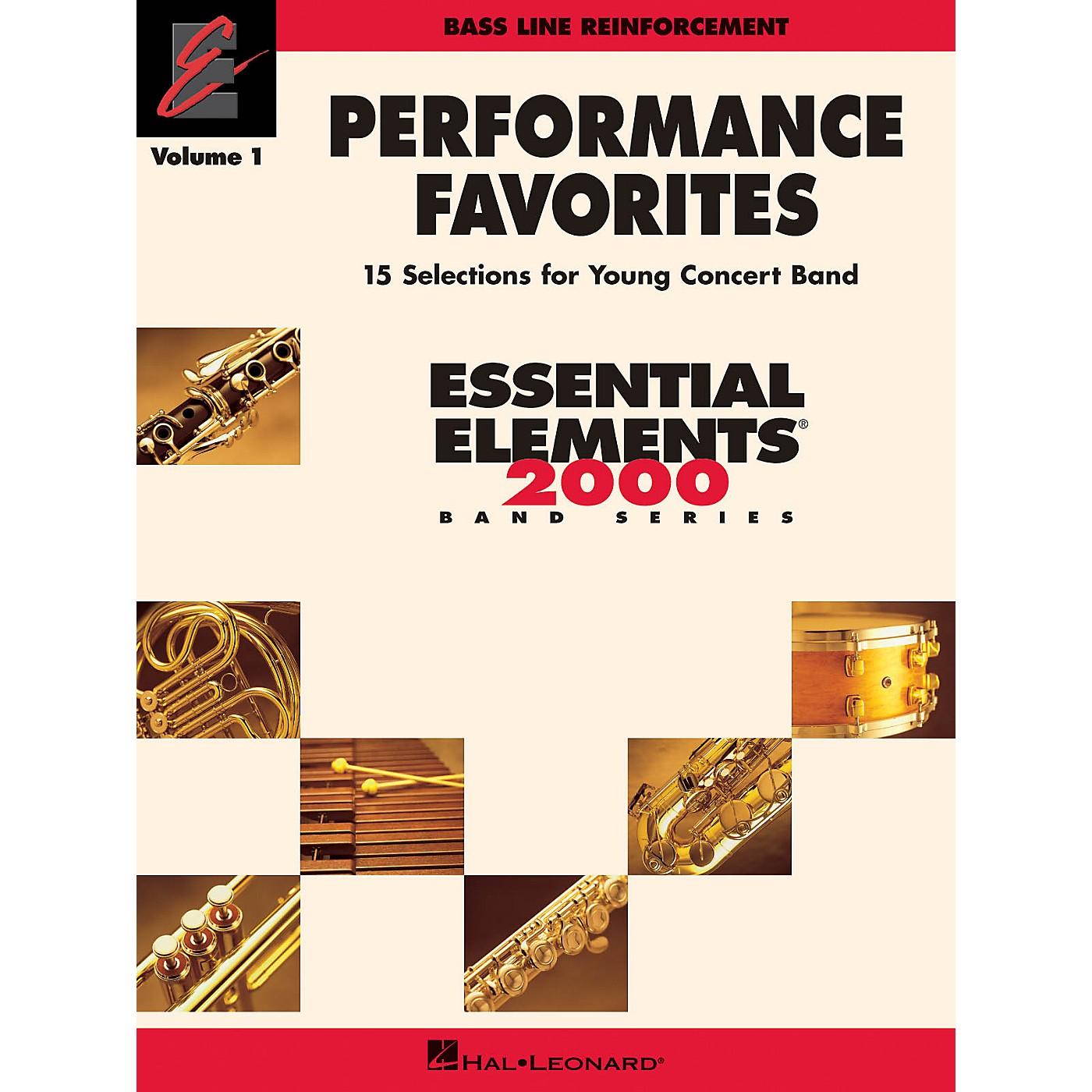 Hal Leonard Performance Favorites, Vol. 1 - Bass Line Reinforcement Concert Band Level 2 Composed by Various thumbnail