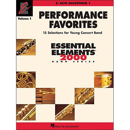 Hal Leonard Performance Favorites Volume 1 Alto Sax 1 thumbnail