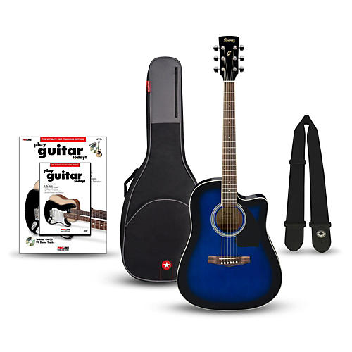 Ibanez Performance Series PF15 Cutaway Dreadnought Acoustic-Electric Guitar Bundle thumbnail