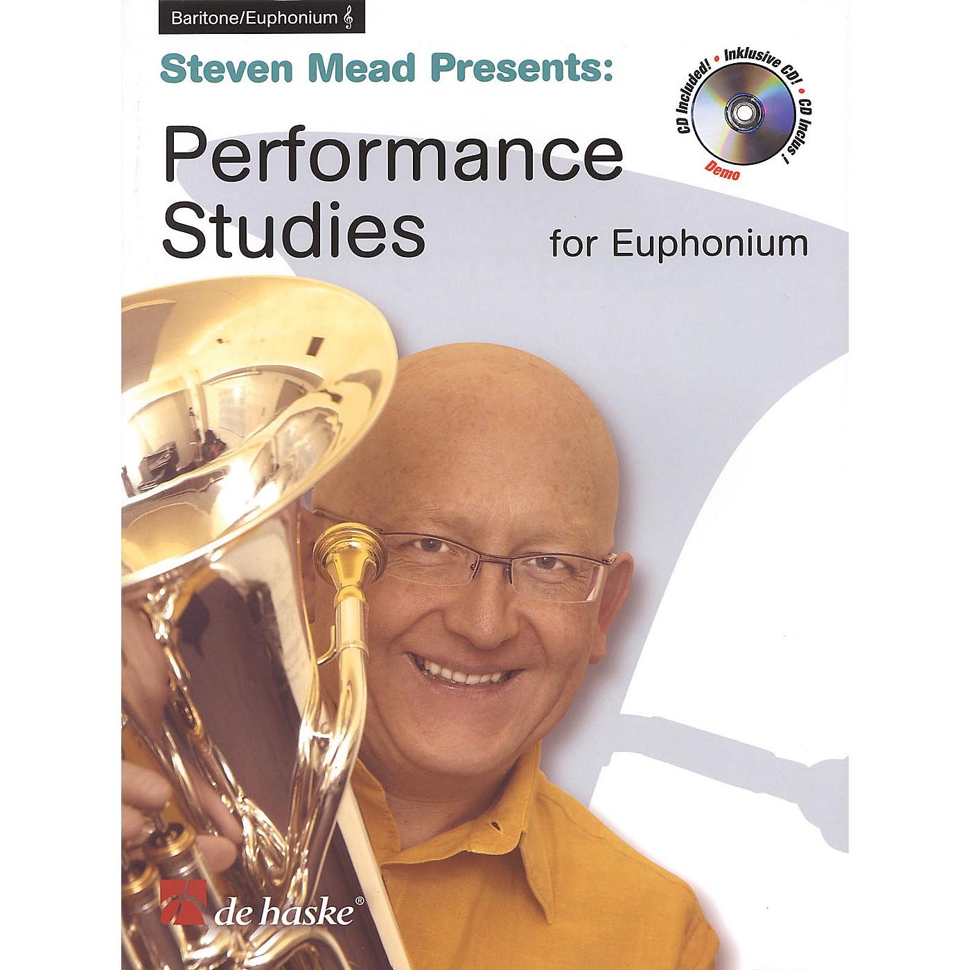 De Haske Music Performance Studies for Euphonium TC De Haske Play-Along Book Series Softcover with CD by Steven Mead thumbnail