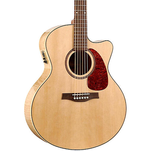 Seagull Performer Cutaway Mini Jumbo Flame Maple QI Acoustic-Electric Guitar thumbnail