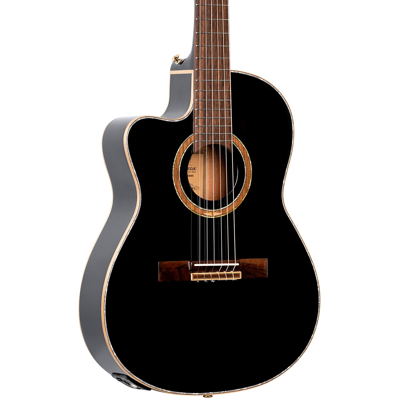 Ortega Performer Series RCE138-T4BK-L Thinline Acoustic Electric Nylon Guitar thumbnail