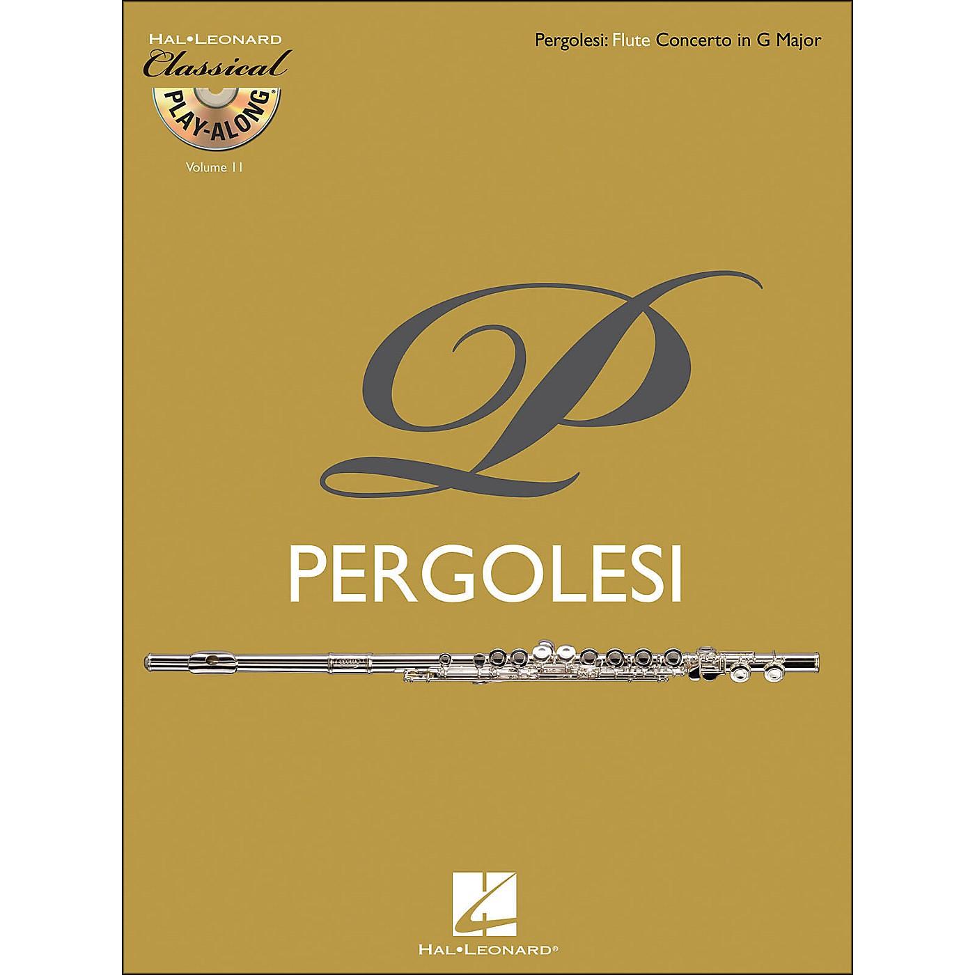 Hal Leonard Pergolesi: Flute Concerto In G Major Classical Play-Along Book/CD Vol. 11 thumbnail