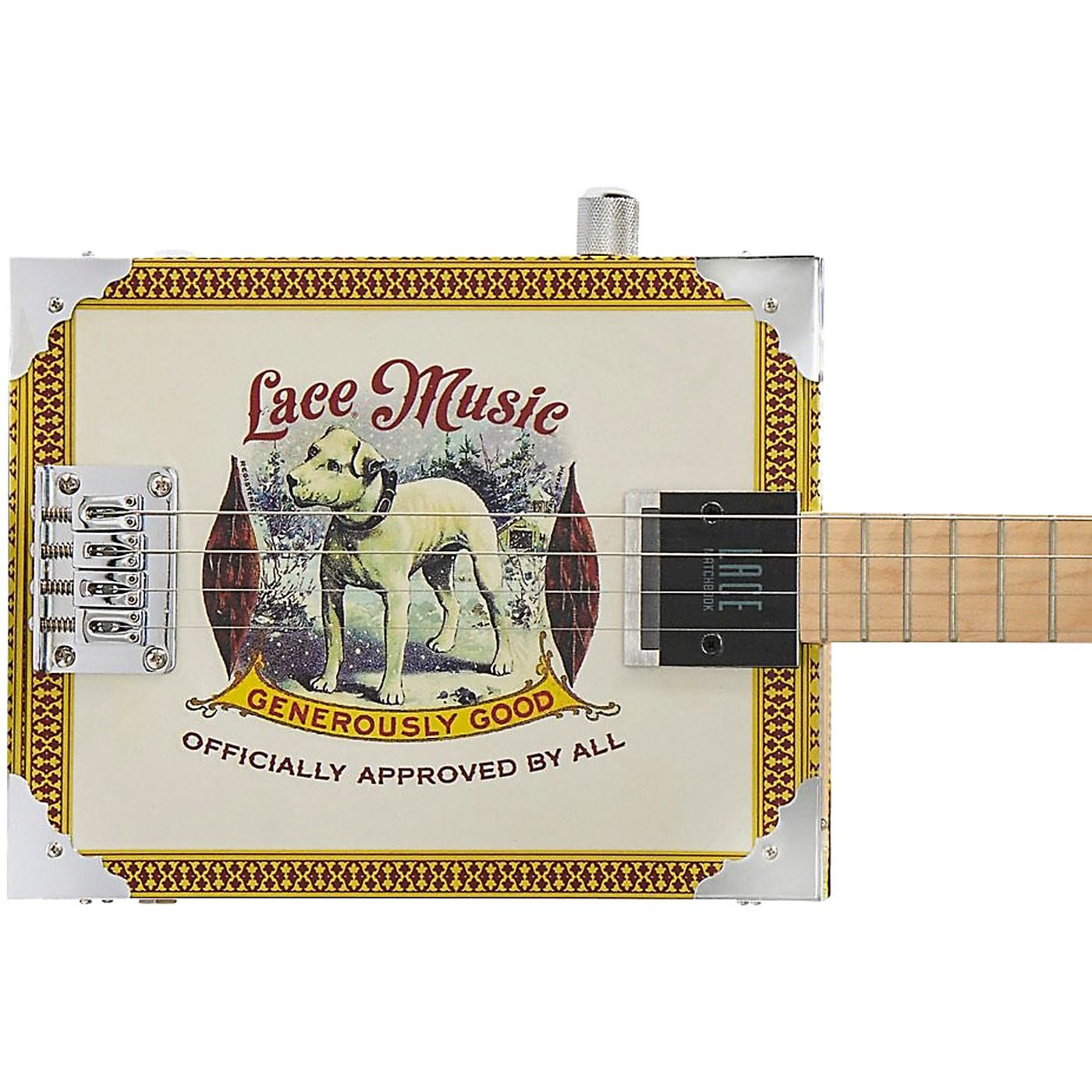 Lace Pero Pup Acoustic-Electric Cigar Box Guitar thumbnail