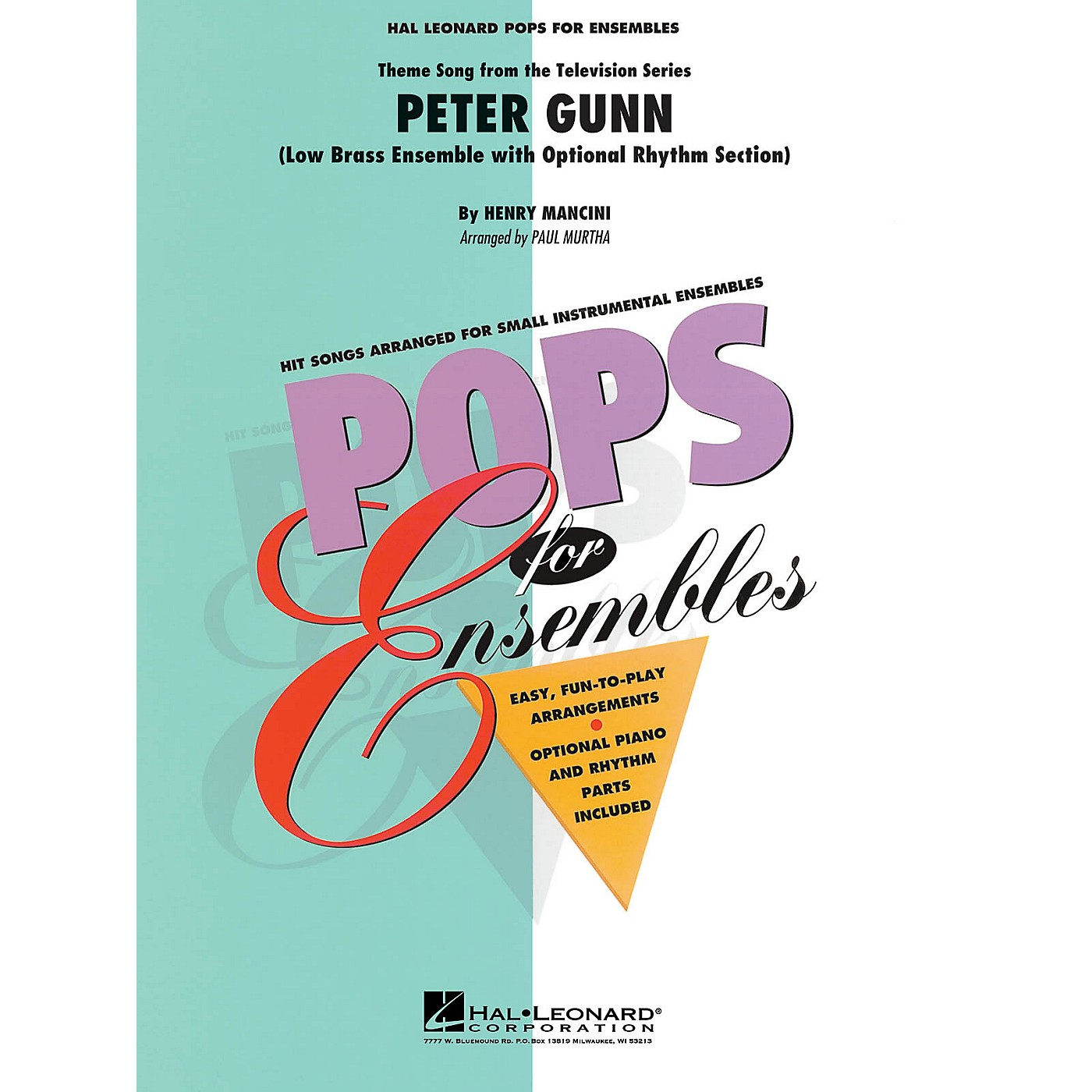 Hal Leonard Peter Gunn (Low Brass Ensemble (opt. rhythm section)) Concert Band Level 2-3 Arranged by Paul Murtha thumbnail