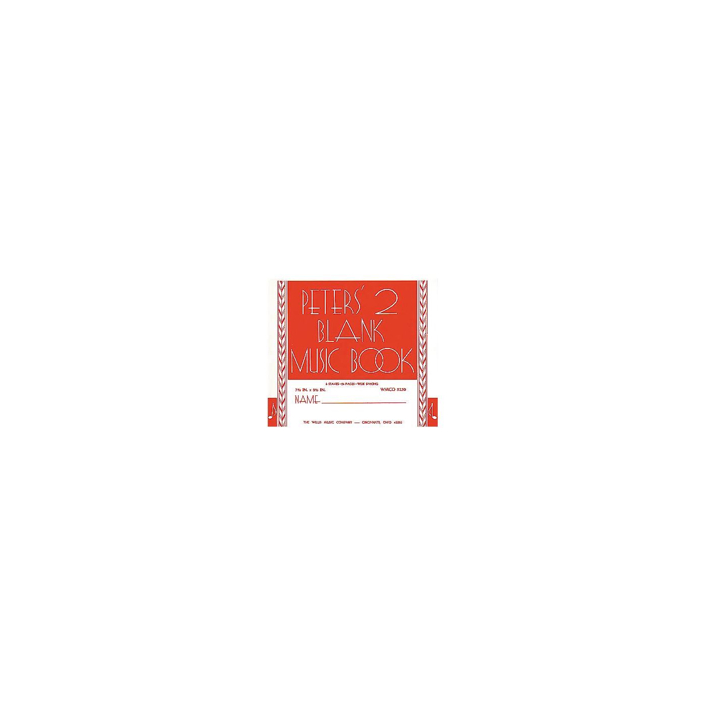 Willis Music Peters' Blank Music Book 2 thumbnail