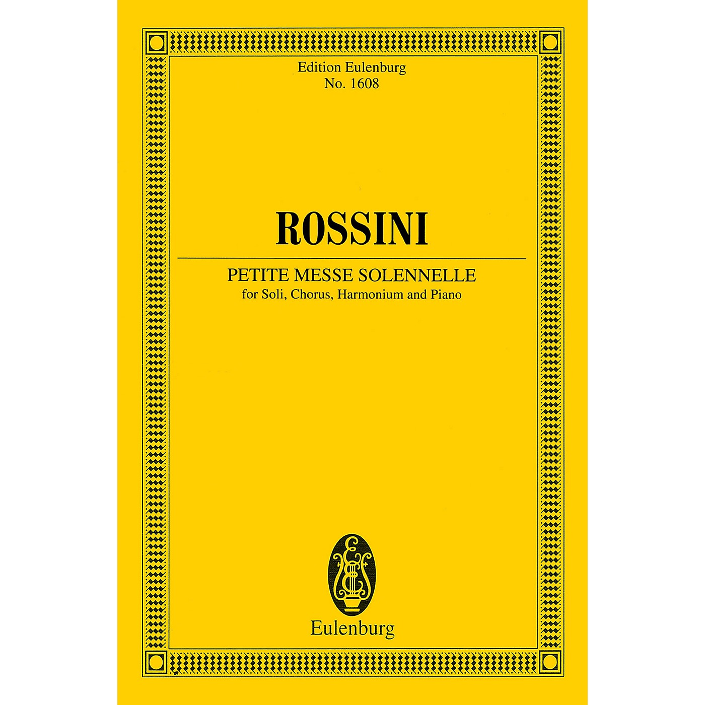 Eulenburg Petite Messe Solennelle Study Score Series Softcover Composed by Gioacchino Rossini thumbnail