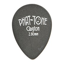 Clayton Phat-Tone Small Teardrop Rubber Picks 3-Picks