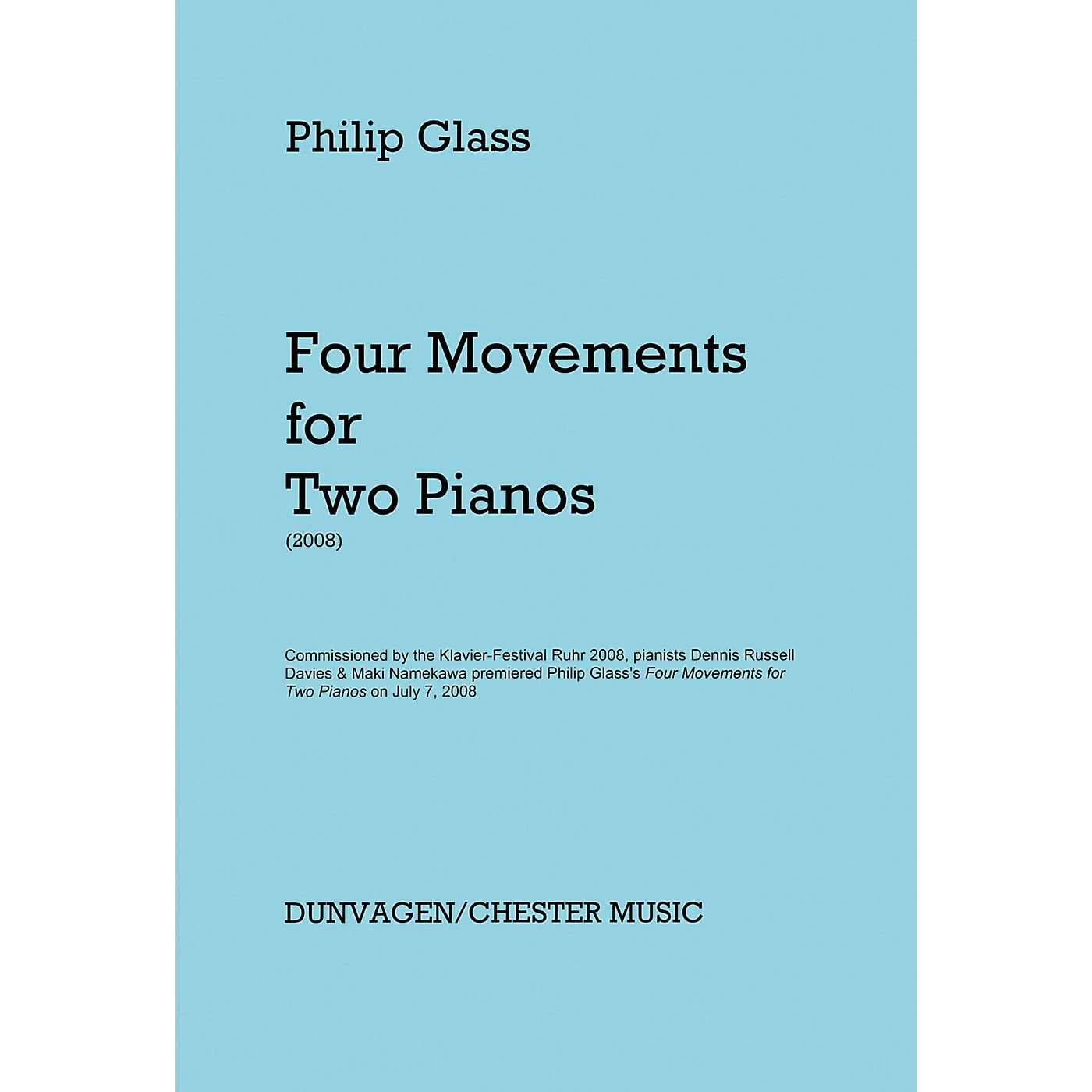 Hal Leonard Phillip Glass - Four Movements For Two Pianos thumbnail
