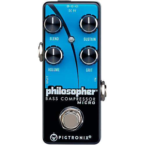 Pigtronix Philosopher Bass Compressor Micro Effects Pedal thumbnail