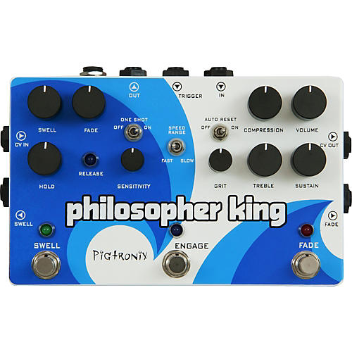 Pigtronix Philosopher King Compressor and Sustainer Guitar Effects Pedal thumbnail