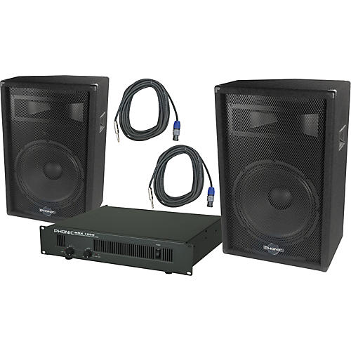 Phonic Phonic S715 / MAX 1600 Speaker and Amp Package thumbnail