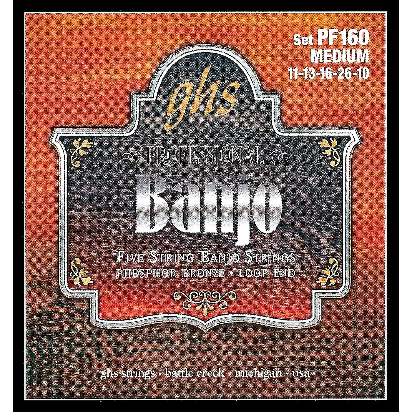 GHS Phosphor Bronze 5-String Banjo Strings Medium thumbnail