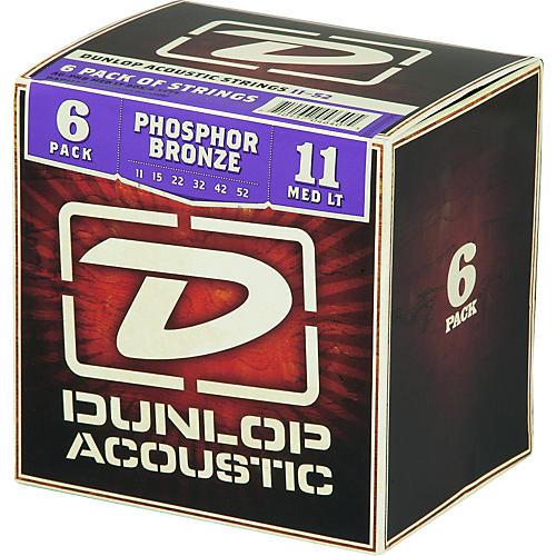 Dunlop Phosphor Bronze Acoustic Guitar Strings Medium Light 6-Pack thumbnail
