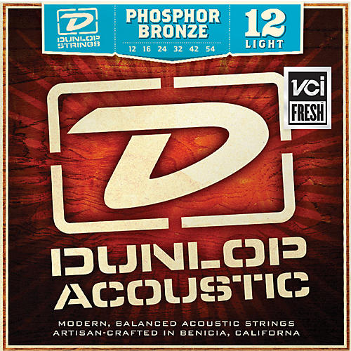Dunlop Phosphor Bronze Light Acoustic Guitar Strings thumbnail