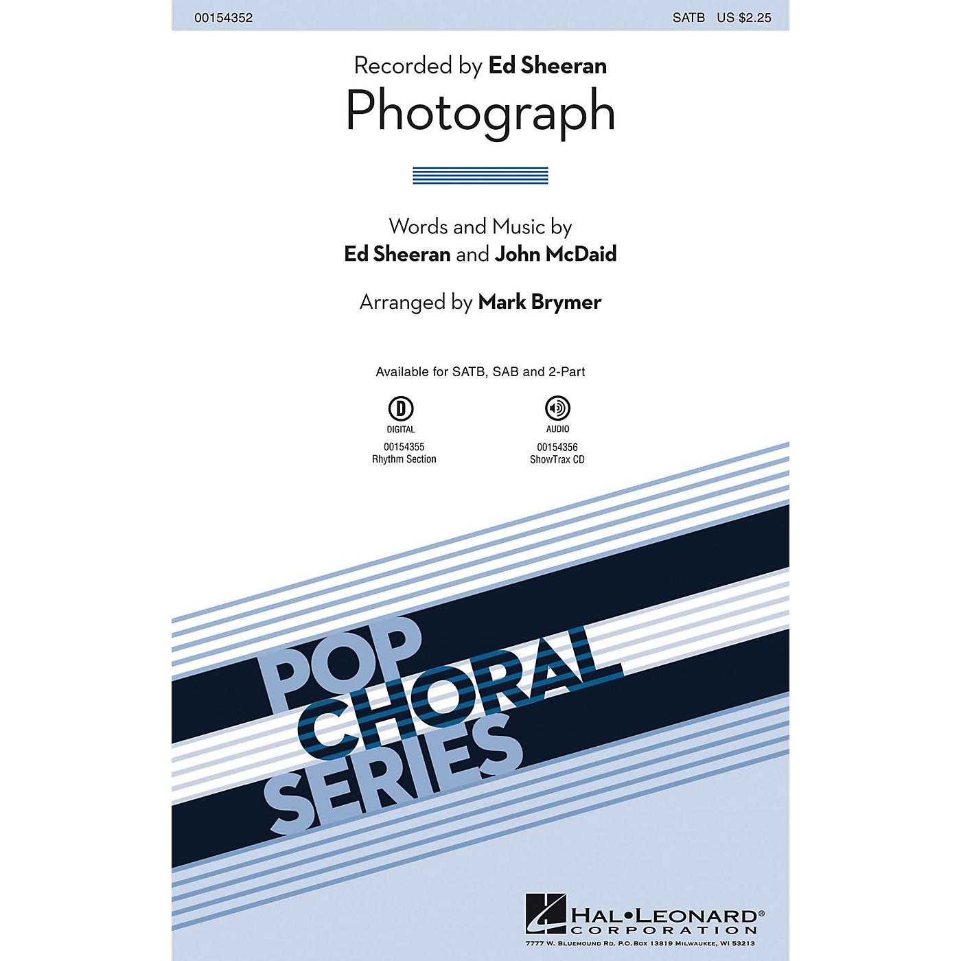 Hal Leonard Photograph SATB by Ed Sheeran arranged by Mark Brymer thumbnail