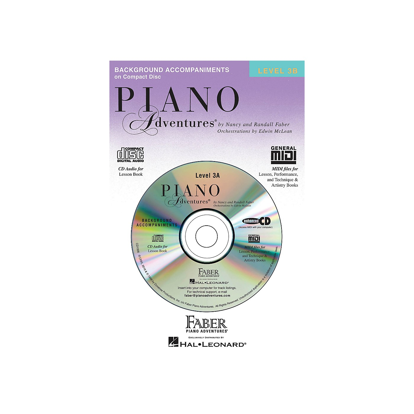 Faber Piano Adventures Piano Adventures CD for Lesson Level 3B - Faber Piano thumbnail