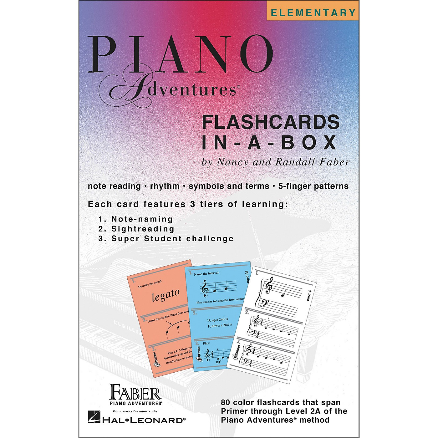 Faber Piano Adventures Piano Adventures FlashCards In-A-Box (Primer Level Through 2A Elementary) - Faber Piano thumbnail