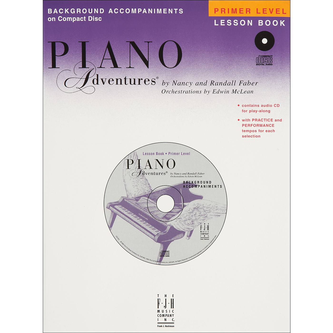 Faber Piano Adventures Piano Adventures Primer Level Lesson CD with Practice And Performance Tempos - Faber Piano thumbnail