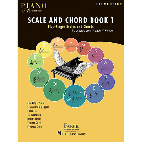 Faber Piano Adventures Piano Adventures Scale and Chord Book 1 Faber Piano Adventures® Series Softcover Written by Randall Faber thumbnail