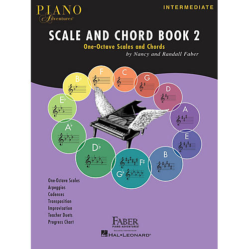 Faber Piano Adventures Piano Adventures Scale and Chord Book 2 Faber Piano Adventures® Series Softcover Written by Randall Faber thumbnail