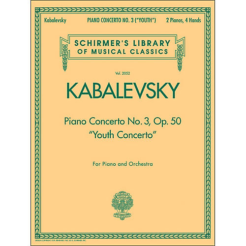 G. Schirmer Piano Concerto No 3 Op 50 2 Pianos 4 Hands Youth Concerto By Kabalevsky thumbnail