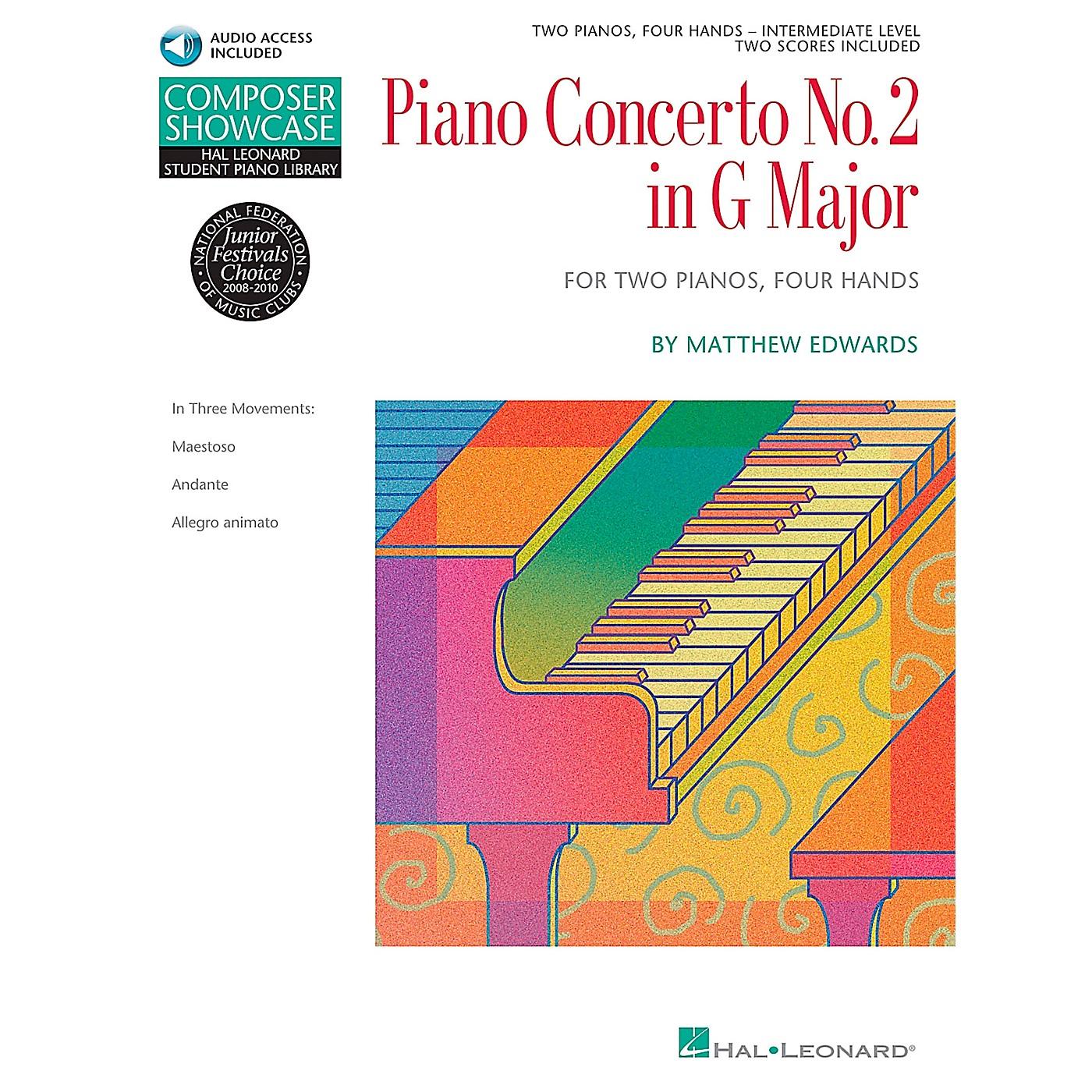 Hal Leonard Piano Concerto No. 2 In G Major 2 Pianos 4 Hands Book/CD Composer Showcase Hal Leonard Student Piano Library by Matt Edwards thumbnail