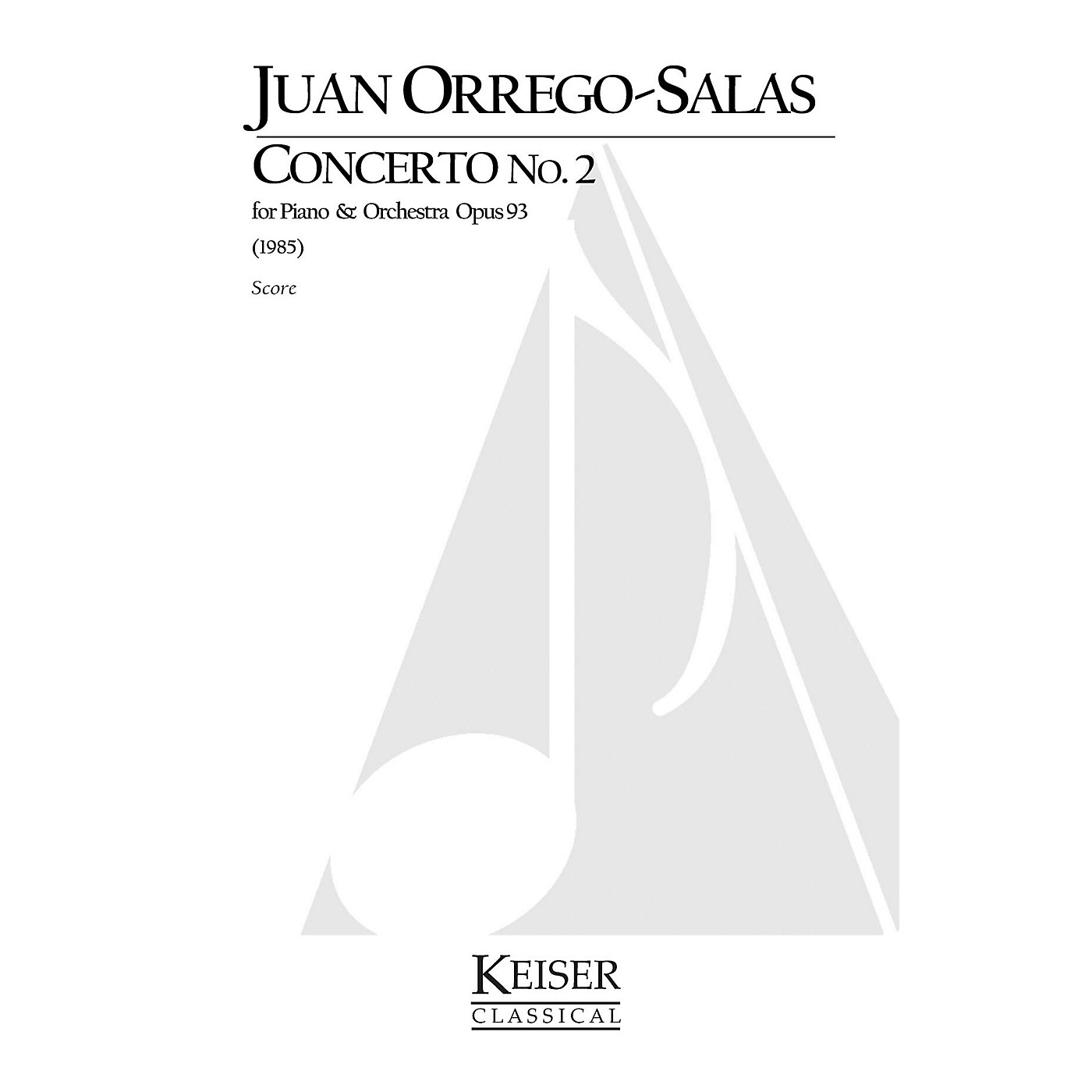 Lauren Keiser Music Publishing Piano Concerto No. 2, Op. 93 LKM Music Series Composed by Juan Orrego-Salas thumbnail