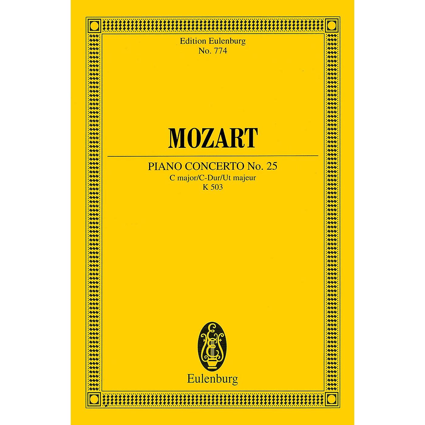 Eulenburg Piano Concerto No. 25 in C Major, K. 503 Schott by Mozart Arranged by Friedrich Blume thumbnail