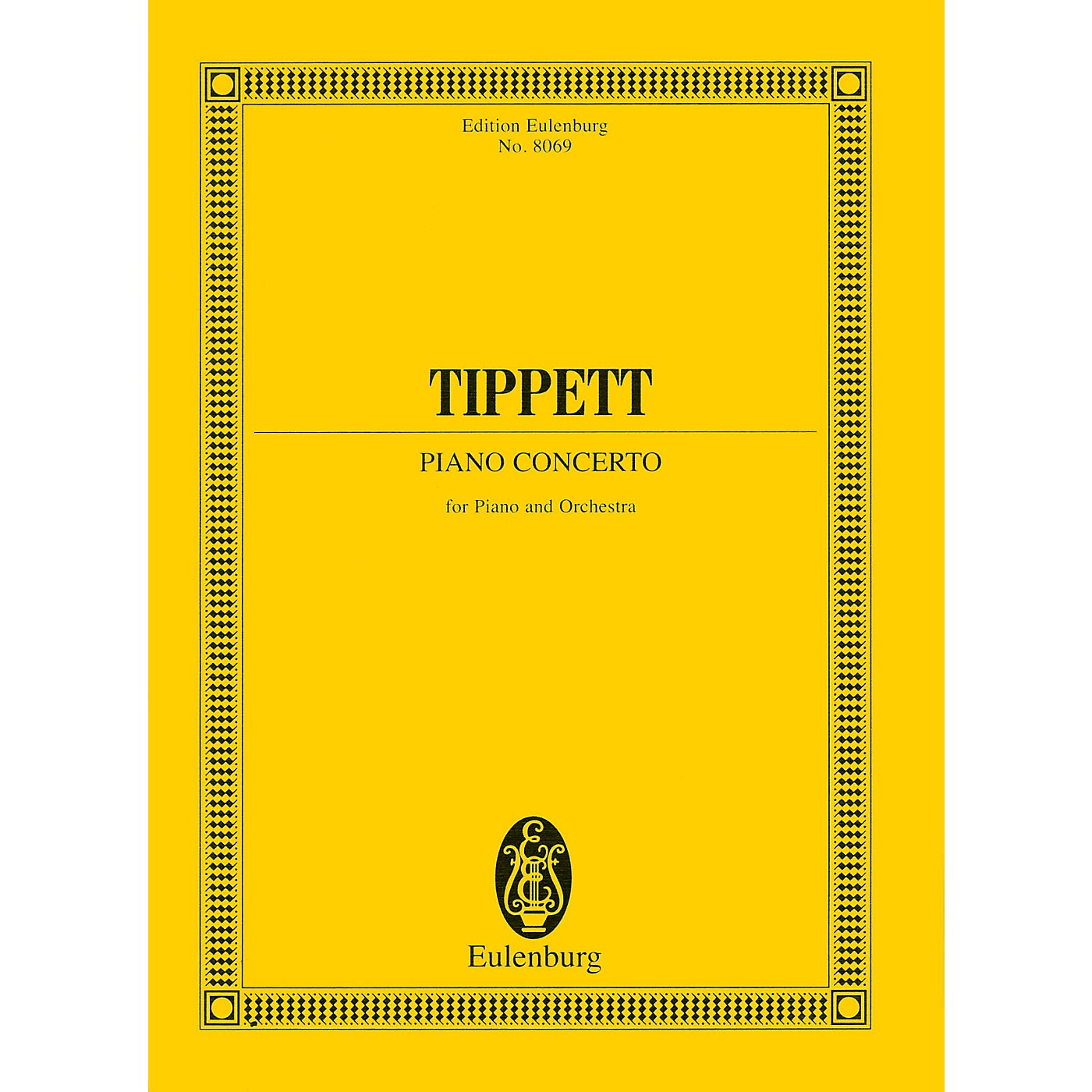Eulenburg Piano Concerto (Study Score) Study Score Series Composed by Michael Tippett thumbnail